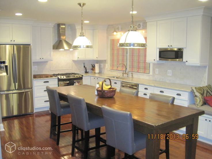 240 Best White Kitchen Cabinets Images On Pinterest Built In Cabinets Inset Cabinets And
