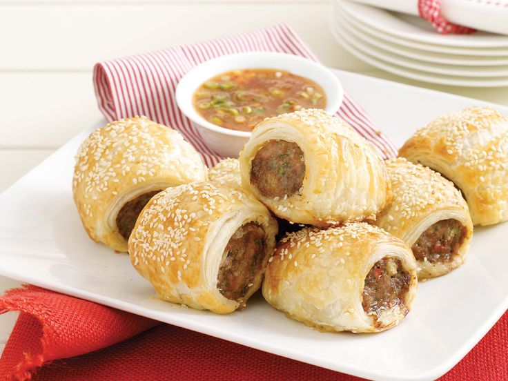 Thai chicken sausage rolls, chicken recipe, brought to you by recipes+