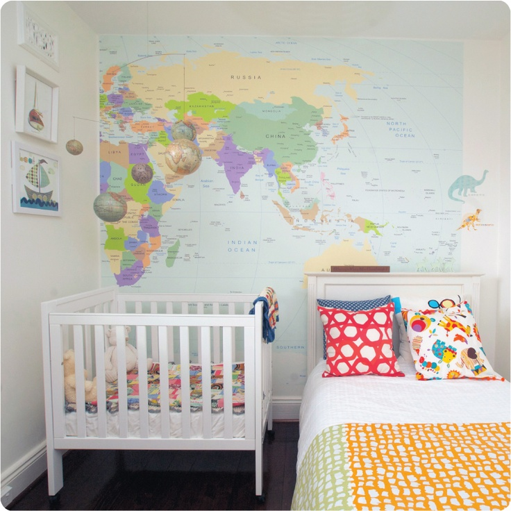 21 best travel theme baby room images on pinterest bedrooms child removable wallpaper world map from the wall sticker company publicscrutiny Gallery