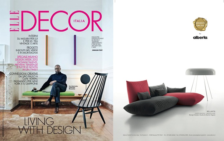 ELLE DECOR Magazine - May, 2012  Bellavita Sofa - Golden Young Collection by #Alberta #Pacific #Furniture