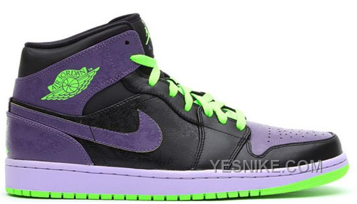136065021 Air Jordan 1 Retro Joker AllStar Black Green Purple A3MNt