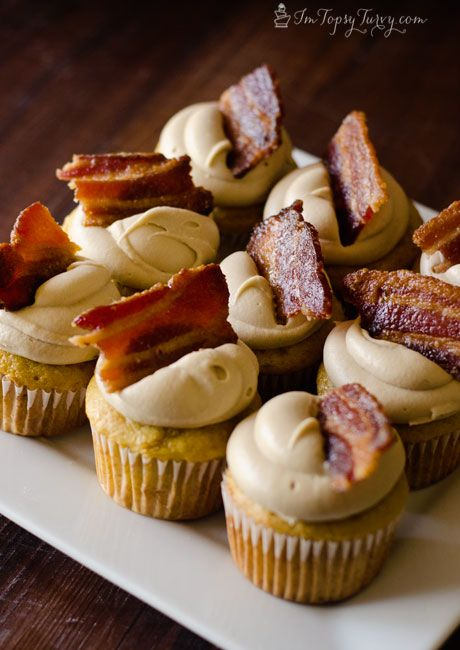breakfast for dessert? these maple bacon cupcakes smell amazing and taste even better!
