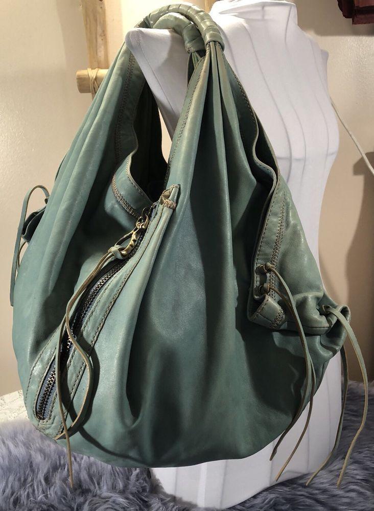 Oryany Corset Heather Hobo Handbag Leather Xl Shoulder Bag Purse Slouch Teal Clothing Shoes Accessories Women S Bags Handbags Ebay