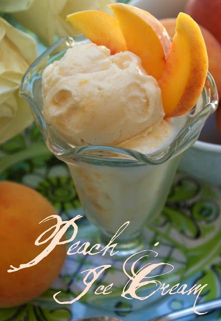 A Little Loveliness: Peach Ice Cream