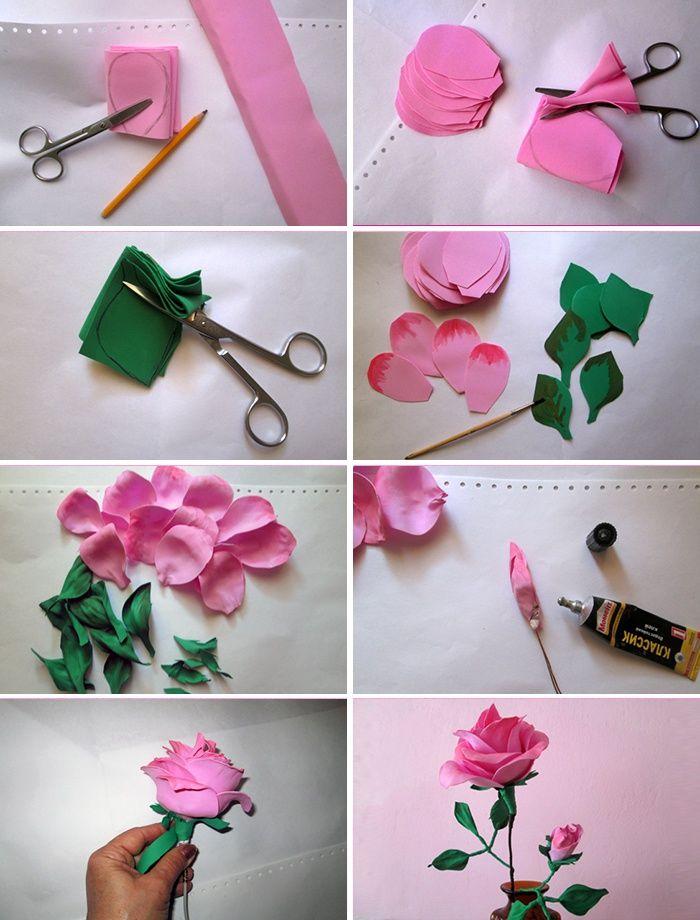 Как сделать розу из фоамирана
