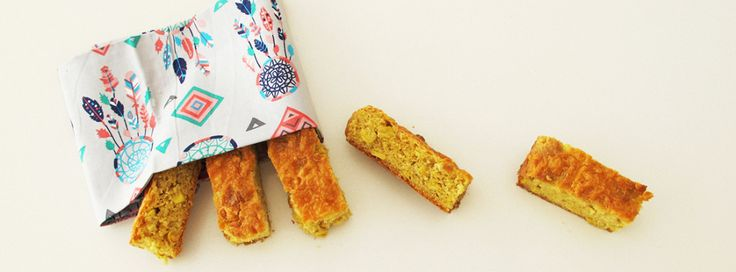 Cheesy Corn Bread Fingers - great for picnics and lunch boxes