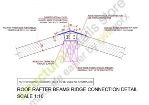 Roof Rafter Timber Beams Ridge Connection Detail Roof