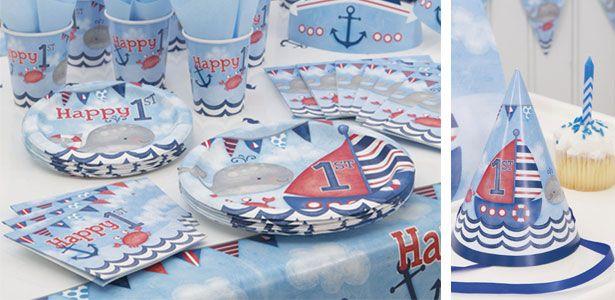Compleanno Piccolo marinaio 1° compleanno per bambini, mille idee di decorazione - VegaooParty