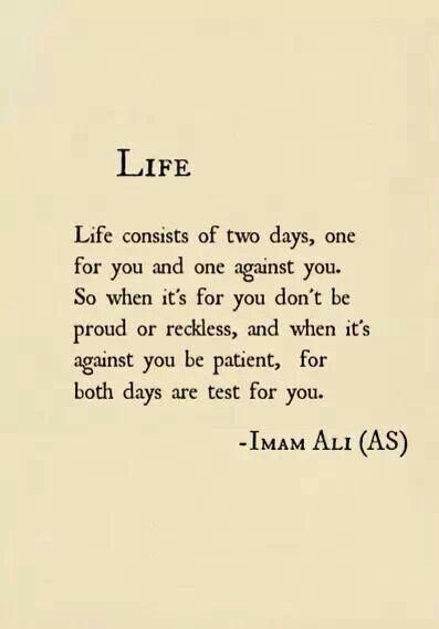 Life — Imam Ali                                                       …