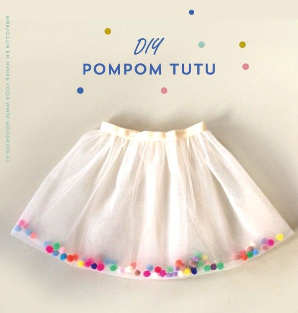 DIY Pom Pom tutu...have to translate but the pictures seem self explanatory.