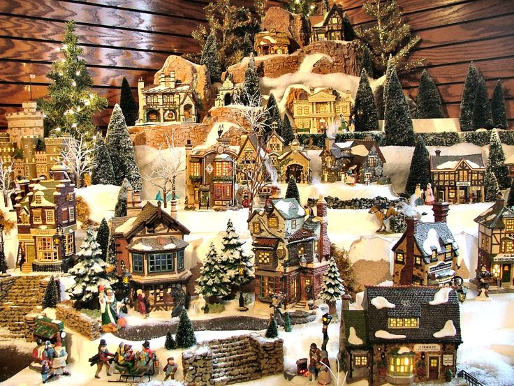 17 Stunning Christmas Village Miniature - My Visual Home                                                                                                                                                                                 More