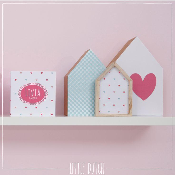 Little Dutch Little Hearts  #littledutch #little #dutch  #geboortekaartje #kaartje #geboorte #birthannouncement #hearts #hartjes #blue #blauw #pink #roze #liefleukeneigen @LiefLeukenEigen