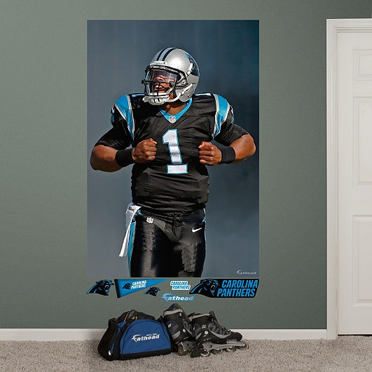 Cam Newton Superman Mural, Carolina Panthers... Cameron