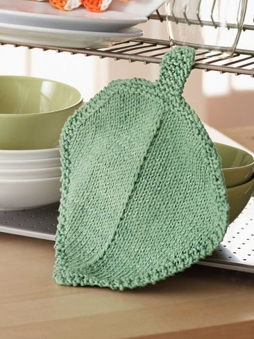 Pot Leaf Knitting Pattern : Dishcloth, Leaves and Free pattern on Pinterest