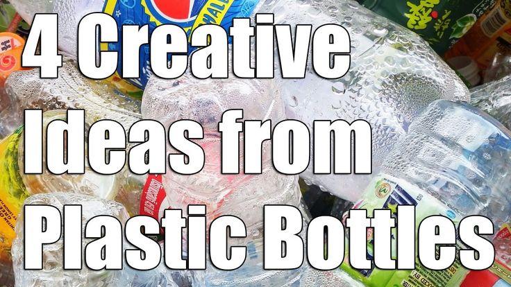 4 Творческие идеи из пластиковых бутылок - повторное использование пласт...