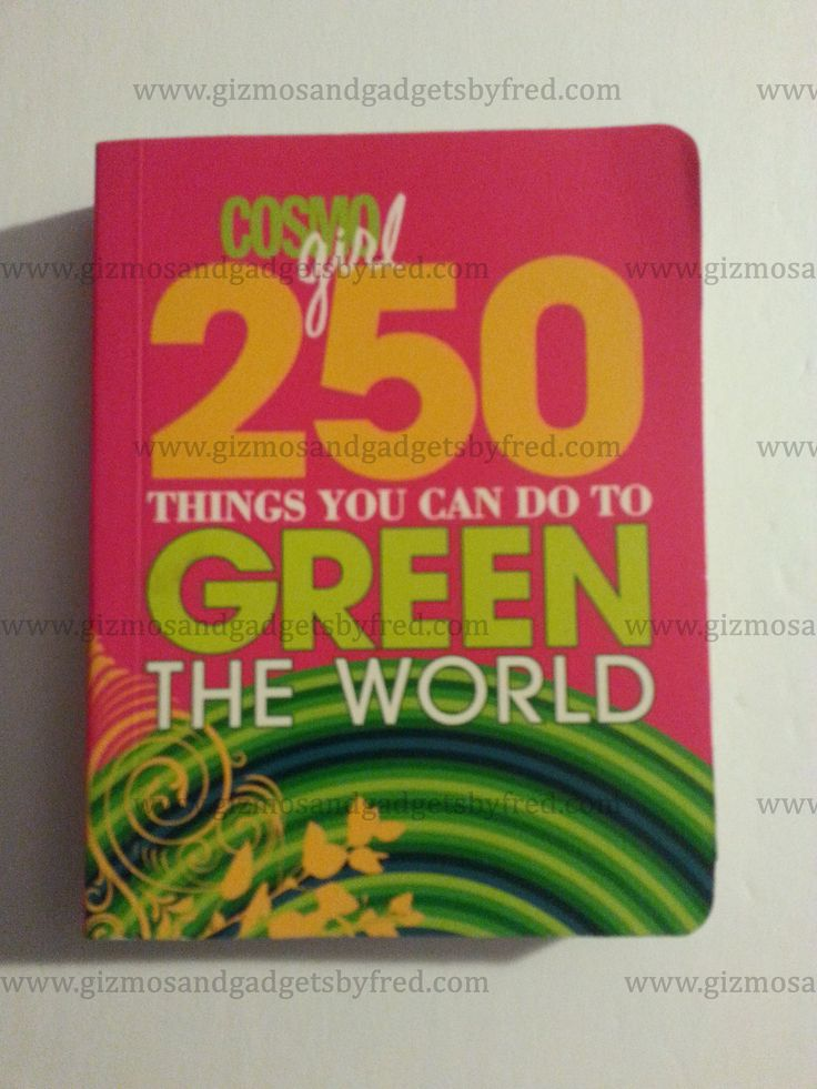 Want to do your part to help the planet be better. Don`t know where to start. Well we have something for you. A great book with 250 things you can do. Get more details at www.gizmosandgadgetsbyfred.com