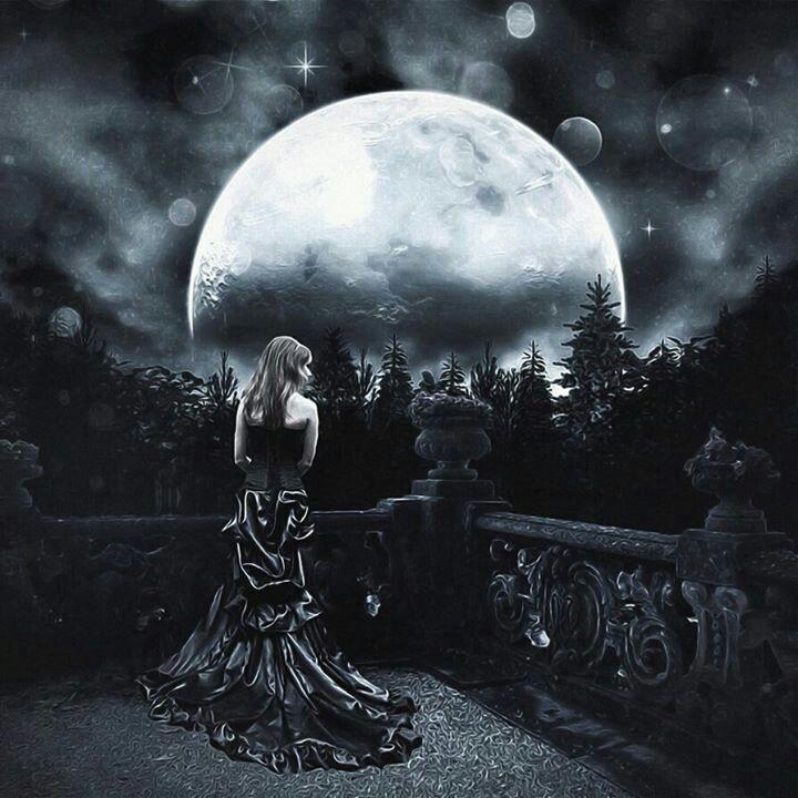 картинки луна готика кошении