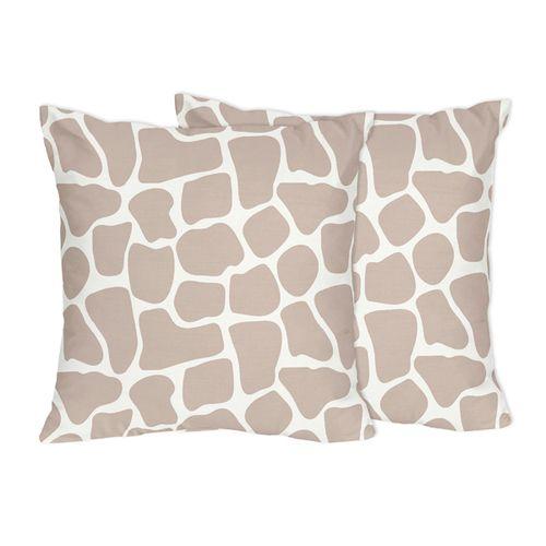 SHOP Giraffe Print Decorative Pillows by Sweet Jojo Designs.  FREE Shipping. No Order Minimums. BabysOwnRoom.com.