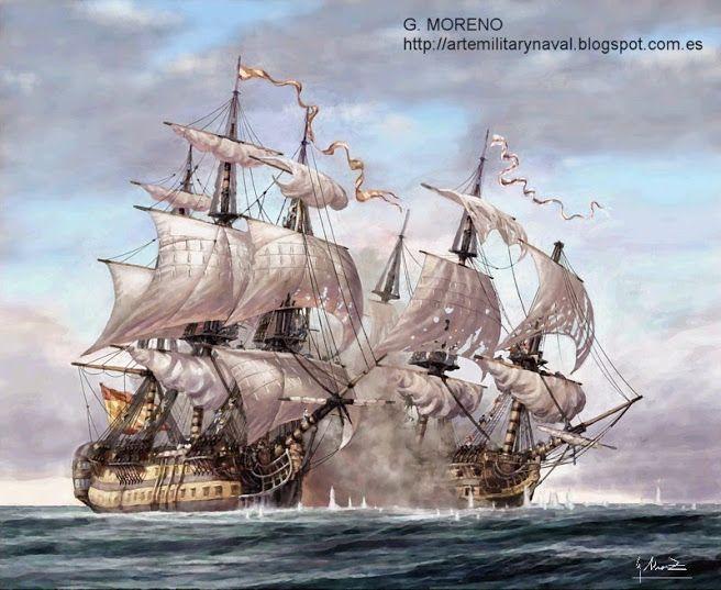 boceto de combate naval