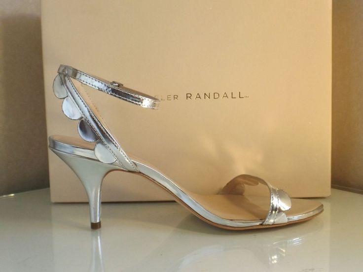 Loeffler Randall Lillit Kitten Heel Sandal Silver Mirror 9.5B #LoefflerRandall…