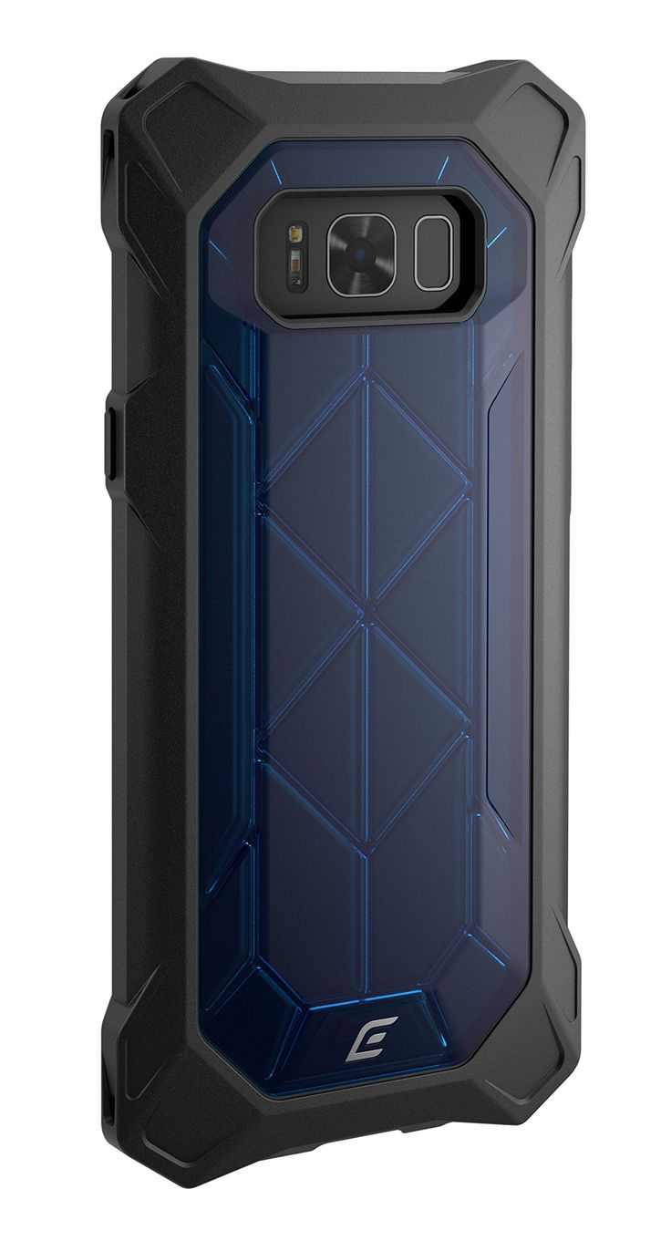 Element Case REV Drop Tested Case for Samsung Galaxy S8+ - Blue. Designed to allow seamless access to all buttons, ports, mics, and speakers of the Samsung Galaxy S8+. Drop-shock corners - exclusive impact absorbing four-corner design dissipates energy to withstand extreme bumps and drops. X-frame chassis - proprietary structural Truss frame is engineered to be exceptionally lightweight and to resist twisting and bending. 10/65 high impact protection -drop-tested from 10 feet and from a...