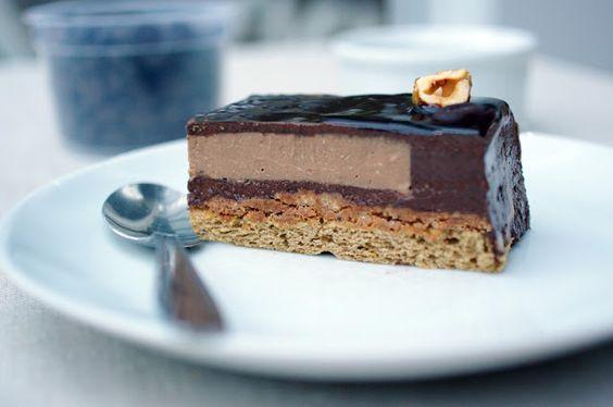 Entremet Café Chocolat Noisette