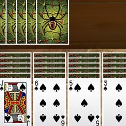 Spider Solitaire - Known to many as the King of all solitaire games, Spider Solitaire is a classic. Play this free online card game now! - logo
