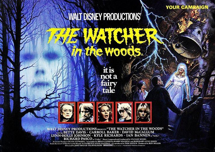 Bette Davis, Lynn-Holly Johnson, Ian Bannen, Carroll Baker, Frances Cuka, David McCallum, Richard Pasco, and Benedict Taylor in The Watcher in the Woods (1980)
