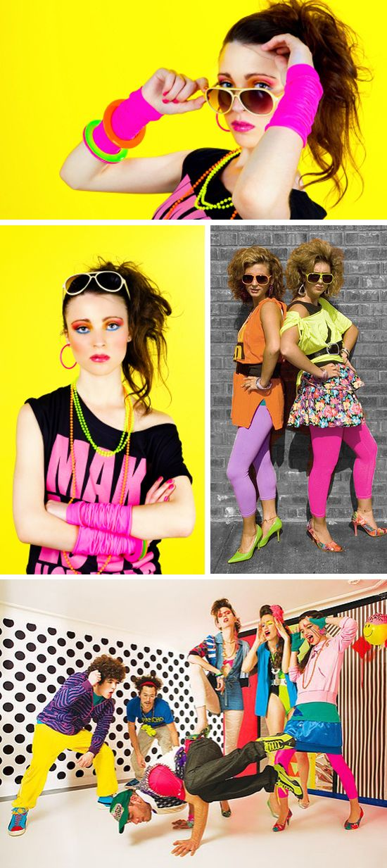 1980s color palate and theme inspiration.