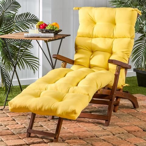 """72"""" x 22"""" Outdoor Chaise Lounge Cushion"""