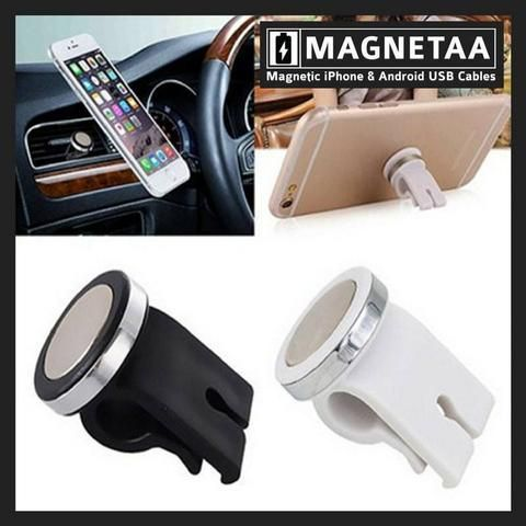 Best Cell Phone Holder For Car - Car Air Vent Mount Holder - Instant & Effortless GPS Use - Watch Movies in Car - FREE Shipping - Magnetaa     Magnetic Car Air Vent Phone Holder for iPhone, iPad, Android Smartphones & GPS Devices | Genuine & HQ | FREE Shipping | 15 Days Returns | 100% Money Back |  SSL & McAfee Secured Store   ✨PIN NOW - VIEW LATER    See the product at https://magnetaaphonecables.com/products/best-cell-phone-holder-for-car-car-air-vent-mount-holder-magnetaa ✨