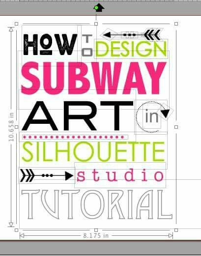 Whether invitations, subway art or wood signs, the secrets for designing in Silhouette Studio are here! http://www.silhouetteschoolblog.com/2016/02/secret-to-easily-designing-subway-art.html