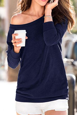 fleece off the shoulder tunic  http://rstyle.me/n/fypdcpdpe