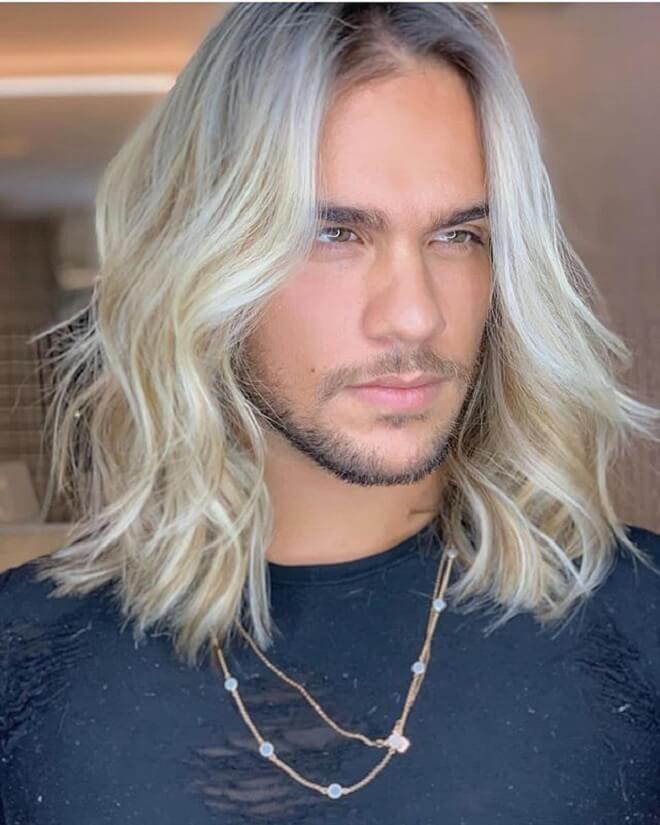 Long Blonde Flow Hairstyle 25 Best Flow Hairstyles For Men Trendy Flow Haircuts Of 2020 Men S Hairst Long Hair Styles Long Hair Styles Men White Hair Men