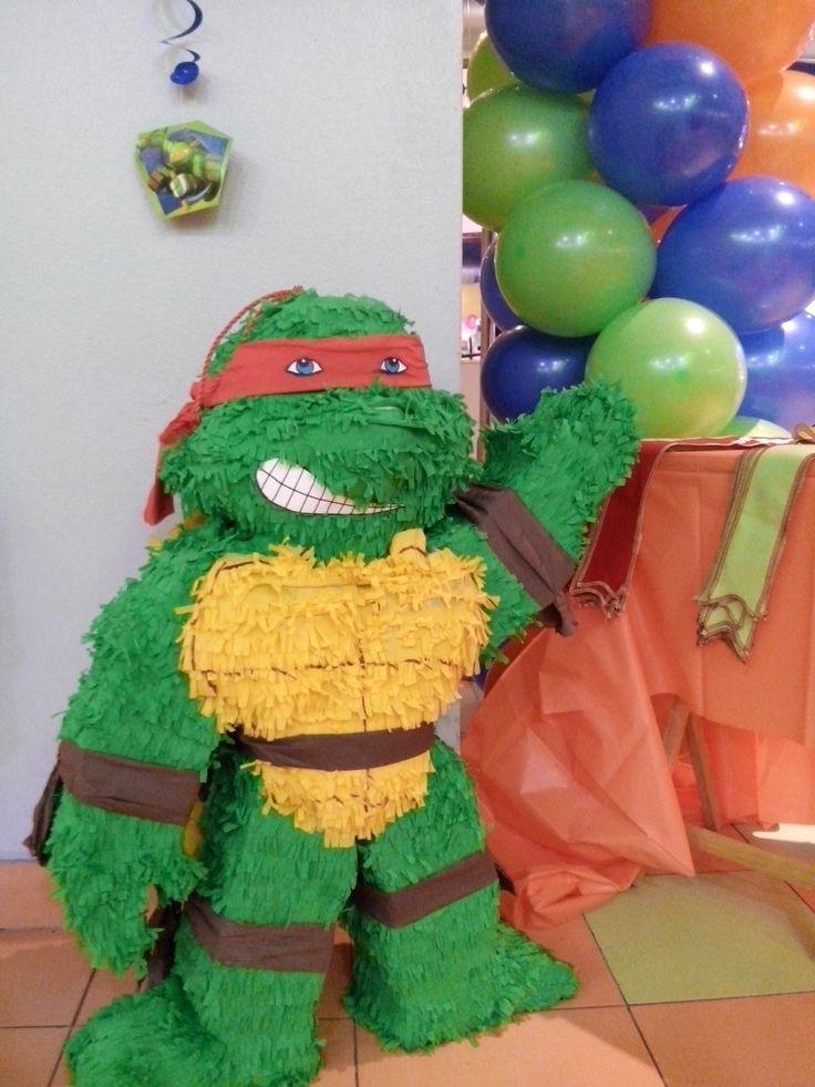 Decoraci n pi ata de las tortugas ninja www for Decoracion de pinatas infantiles