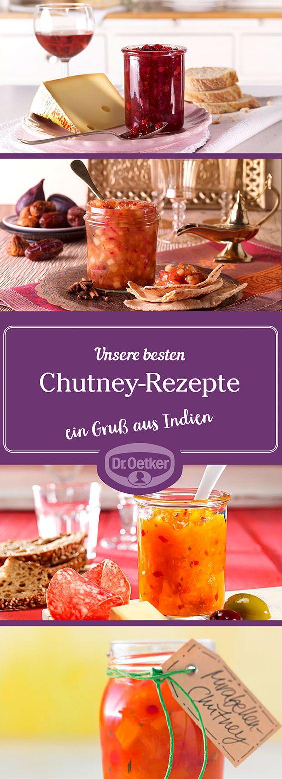 Lassen Sie sich von der großen Auswahl an Chutney-Rezepten, die von der Dr. Oetker Versuchsküche entwickelt wurden, inspirieren.