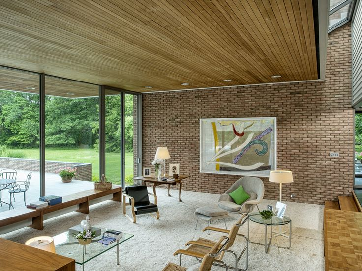 Image result for MID CENTURY MODERN BRICK TOWNHOUSE