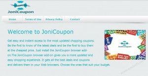 JoniCoupon est classé comme un programme publicitaire périlleuse qui vient à l'intérieur de l'ordinateur ciblé avec des téléchargements gratuits.