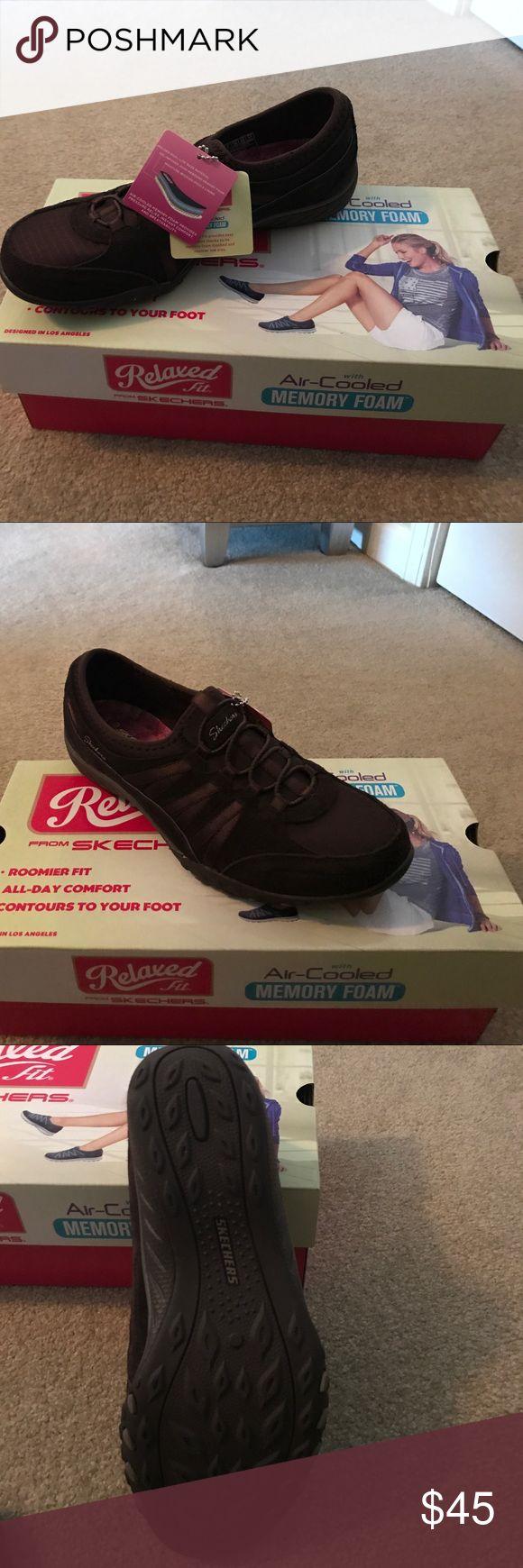 Sketcher sneakers Brown slip on's brand new Skechers Shoes Sneakers