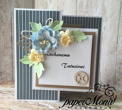 paperMona: Father's day, Z-fold card