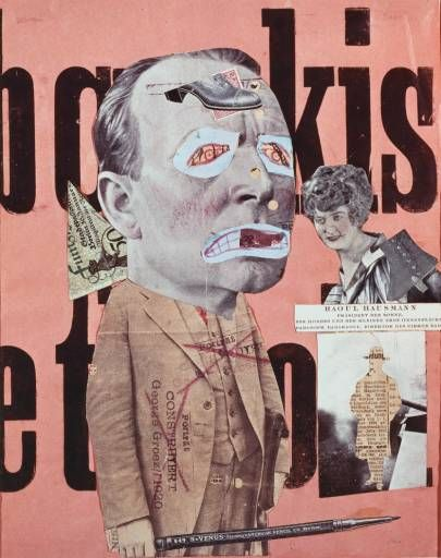 Raoul Hausmann (1886-1971), 'Art Critic'. Austrian artist and writer; key figure in Berlin Dada.