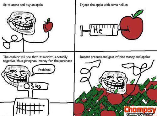 apple helium troll physics