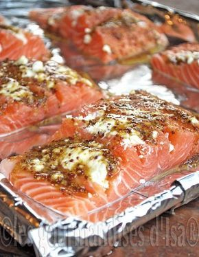 saumon chèvre, miel et moutarde- salmon, goat cheese, & mustard
