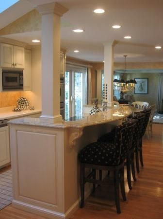 Best 25+ Kitchen columns ideas on Pinterest | Kitchen layouts, Load bearing  wall and Kitchen island with cooktop