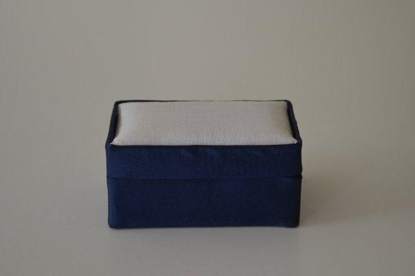 SBSrect.16 - Small Rectangular - Navy - Satin covered and lined boxes make it so easy for you to create a special gift or precious keepsake. Embellish your fabric as you desire, cover the removable, padded lid with your worked fabric and replace into the box lid. The box measures 9 x 6.5cm.