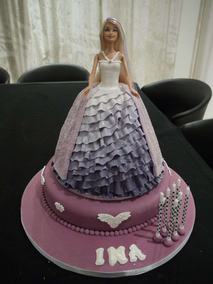 Barbie Cake Sorry No Recipe Just The Picture Of The