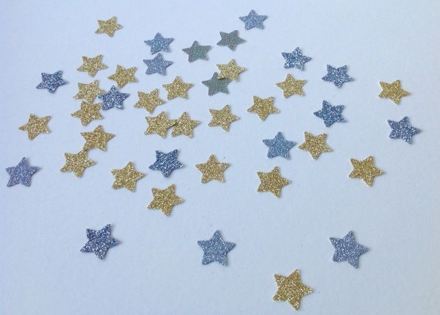 Glittered Card Star Shapes,Gold,Silver,Mix,100pk,Card Craft Shapes £1.40