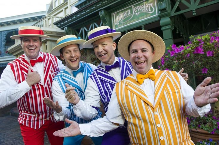 "New Disney Limited Time Magic for late August 2013 - The Dapper Dans perform at the Magic Kingdom as the ""Original Boy Band"""