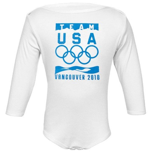 2010 Winter Olympic Games Team USA Infant White Official Logo Long Sleeve Creeper - $5.99