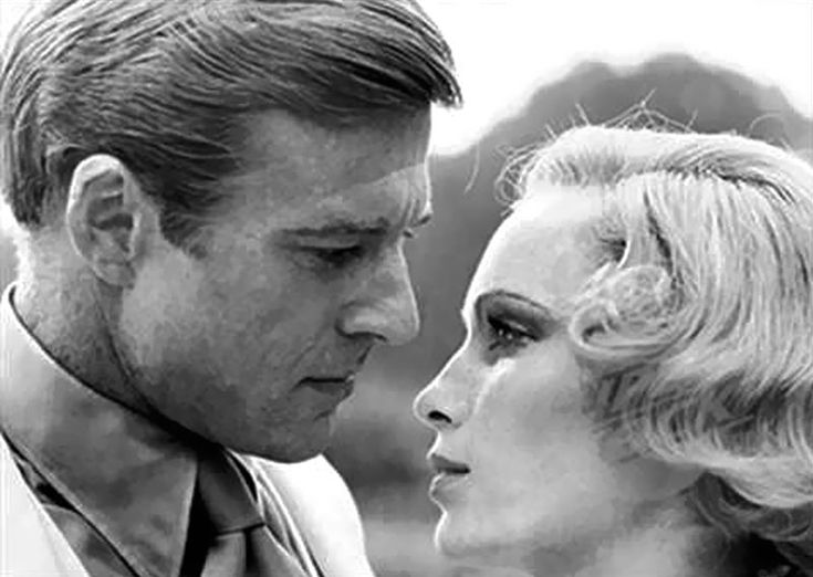 Redford and Farrow - iconic characters of the Great Gatsby.